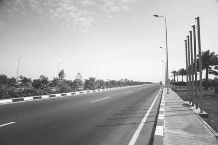Road in Egypt near the city of Sharm El Sheikh Stock Photo