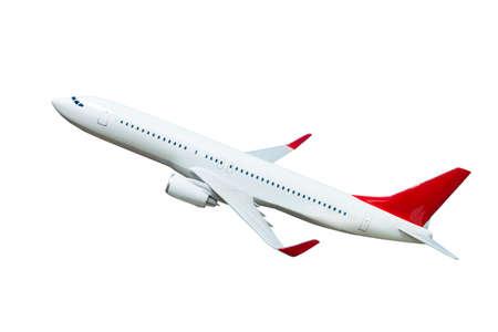 Flugzeug lokalisiert auf weißem Hintergrund. Flugzeugmodell