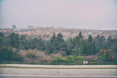View from Anitkabir  to Ankara Stock Photo