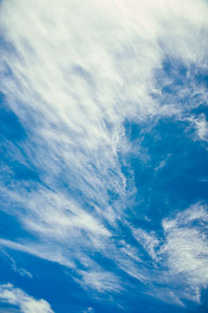 Beautiful blue sky with strange clouds, background