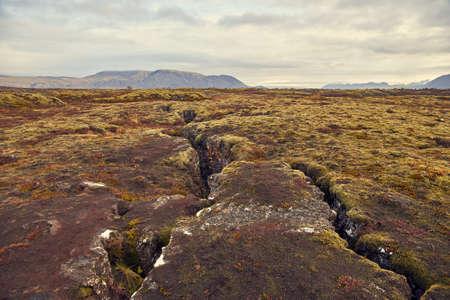 Autumn landscape in The Thingvellir National Park Stock Photo