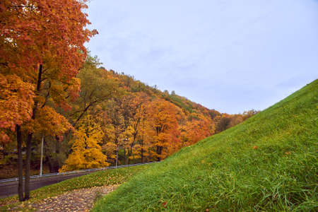 Autumn park in Vilnius, Lithuania Reklamní fotografie