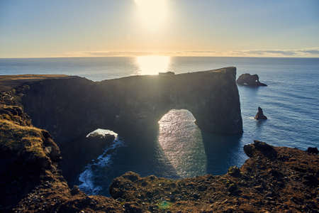 beautiful view of the coast in Iceland