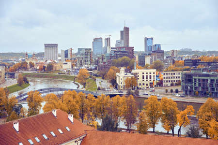 View from the height to the center of Vilnius