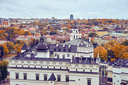 View from the height to the center of Vilnius Imagens