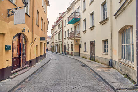 Streets of the old city in Vilnius.