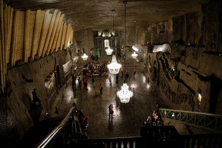 Wieliczka, Poland - May 10, 2018: Inside The Wieliczka Salt Mine
