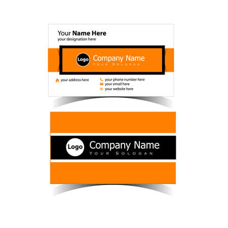 Classic Business Card Design Template 免版税图像 - 151154153
