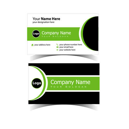 Classic Business Card Design Template 免版税图像 - 151154156