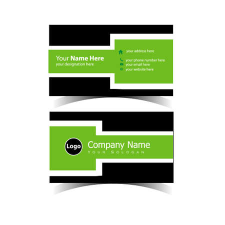 Classic Business Card Design Template 矢量图像
