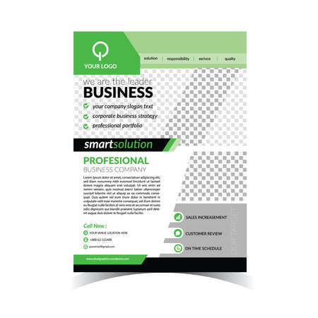 Corporate Business Flyer Template 矢量图像