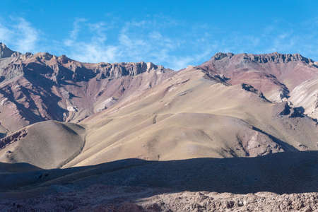 beautiful views of the mountains in the chilean andes to rest and take walks