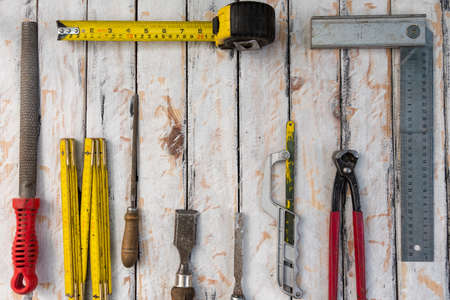 tools for work in industry and at home in masonry and precision wood and rustic