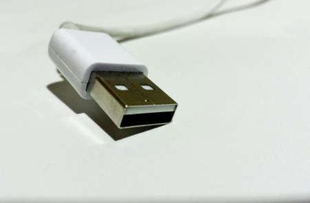 wire: Usb phone cord Stock Photo
