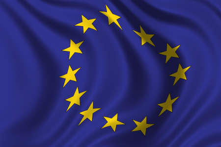 eu: European Union EU Flag Stock Photo