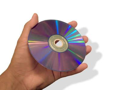 cd rom: Man holding CD-ROM