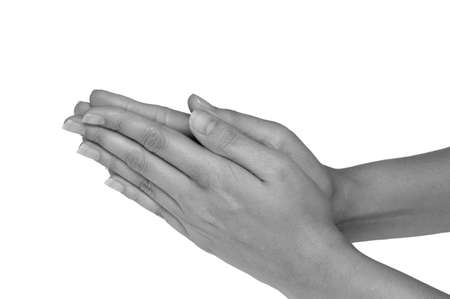 undefined: Female hands in praying position - CLIPPING PATH INCLUDED