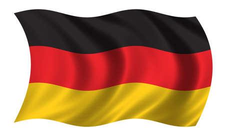 Bandera de Alemania - incluido el recorte de parches  Foto de archivo - 229977