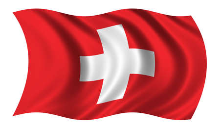schweiz: Flag of Switzerland - CLIPPING PATCH INCLUDED