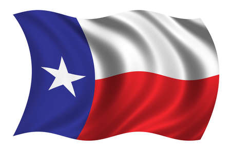 Flag of Texas waving in the wind Stock Photo