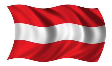 la union hace la fuerza: Bandera de Austria
