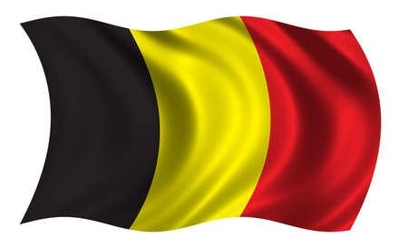 trade union: Flag of Belgium Stock Photo