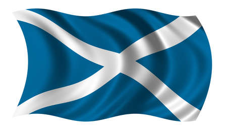 la union hace la fuerza: Bandera de Escocia
