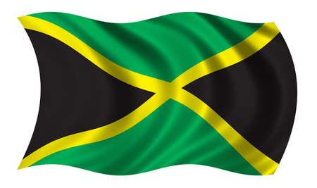 la union hace la fuerza: Bandera de Jamaica Foto de archivo