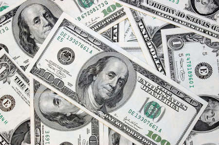 dollar bills: Varie fatture dollaro Archivio Fotografico