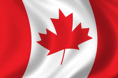 Bandera de Canadá Foto de archivo - 257940