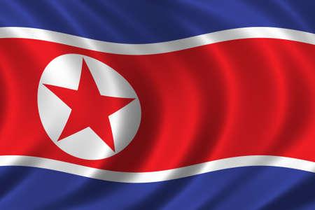 Flaga Korei Północnej Zdjęcie Seryjne - 257937
