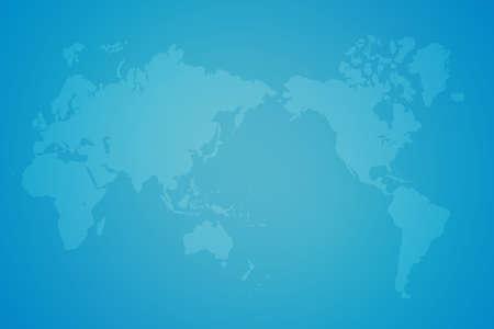 longitude: blue business background with world map Stock Photo