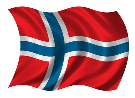 klompen: Flag of Norway waving in the wind