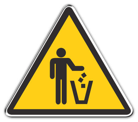 recycle area: Warning Sign: Attention: Recycle