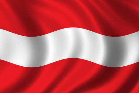Flag of Austria waving in the wind photo