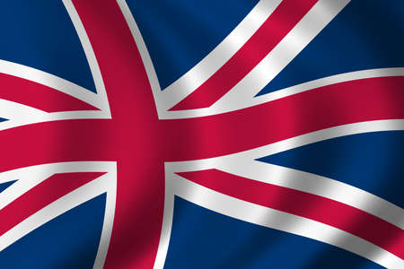 Flag of Great Britain waving in the wind photo