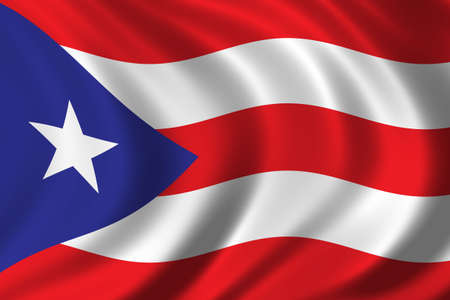 puertorico: Flag of Puerto Rico waving in the wind Stock Photo