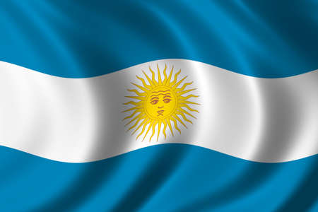 nationalist: Flag of Argentina waving in the wind