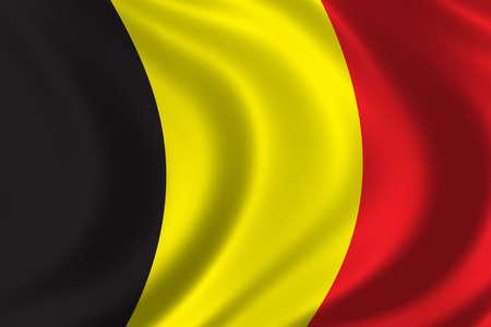 la union hace la fuerza: Bandera de B�lgica ondeando en el viento