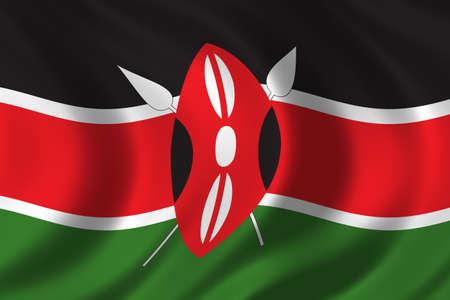 nairobi: Flag of Kenya waving in the wind