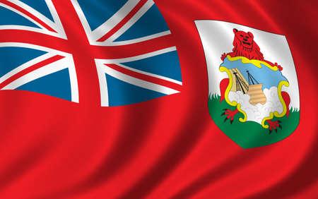 bermuda: Flag of Bermuda waving in the wind