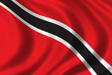 national flag trinidad and tobago: Flag of Trinidad waving in the wind Stock Photo