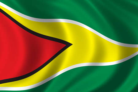 Flag of Guyana waving in the wind Stock Photo - 280554