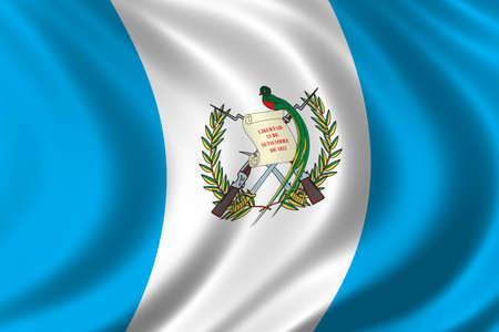 Flag of Guatemala waving in the wind photo