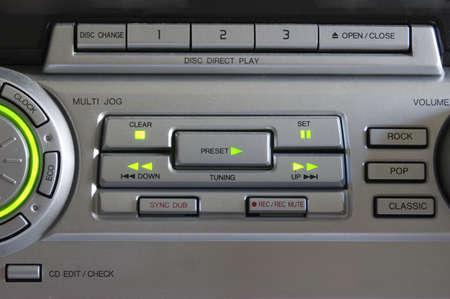 rec: Pannello di controllo di impianto stereo hi-fi Archivio Fotografico