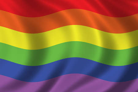 Rainbow flag waving in the wind Stock Photo - 283189