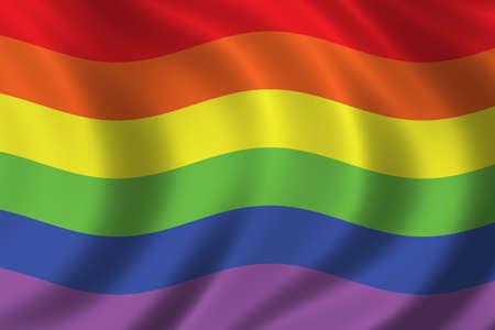 Rainbow flag waving in the wind Stock Photo - 283189