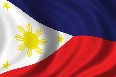 philippino: Flag of Philippines waving in the wind