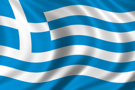 balkan: Flag of Greece waving in the wind