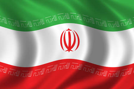 Flag of Iran waving in the wind Stock Photo - 283182